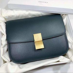 Celine box bag. Bran new! Dark green